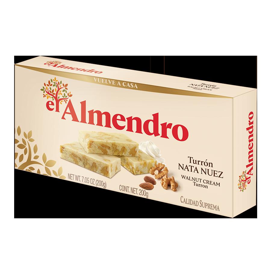 Turrón nata nuez el Almendro