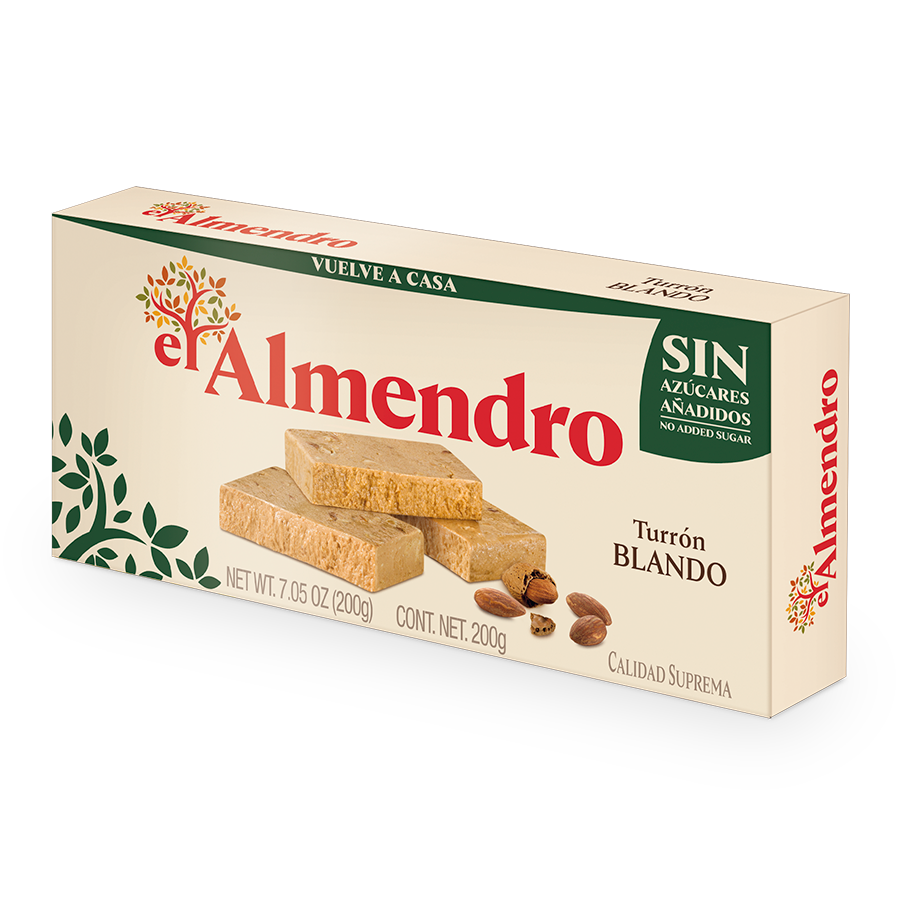 Creamy Almond Turron with No Added Sugars