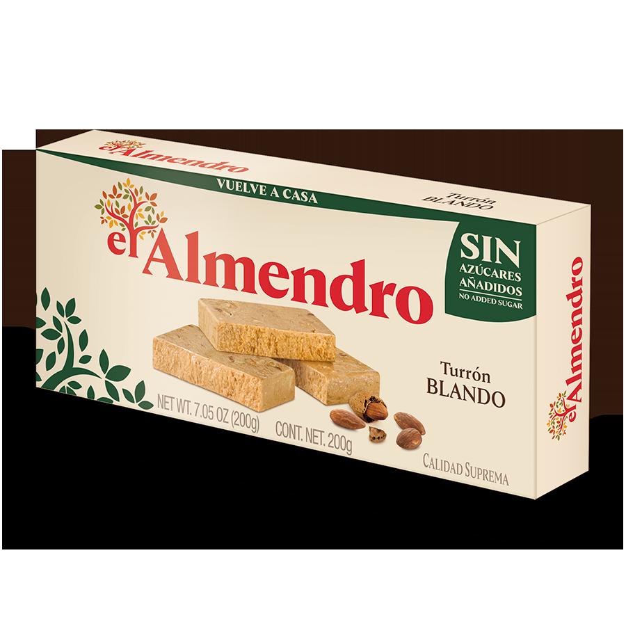 No added sugar creamy almond turron