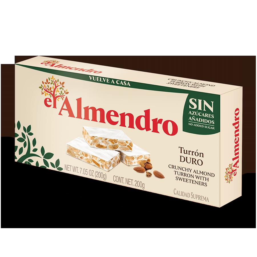 No added sugar crunchy almond turron