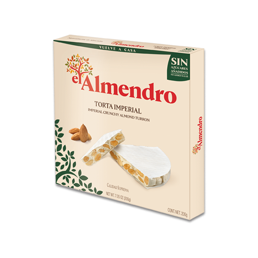 Imperial Crunchy Almond Turron with No Added Sugars