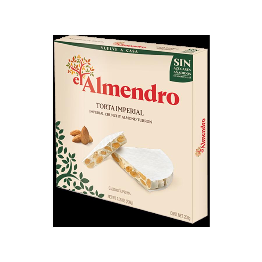 No added sugar imperial crunchy almond turron