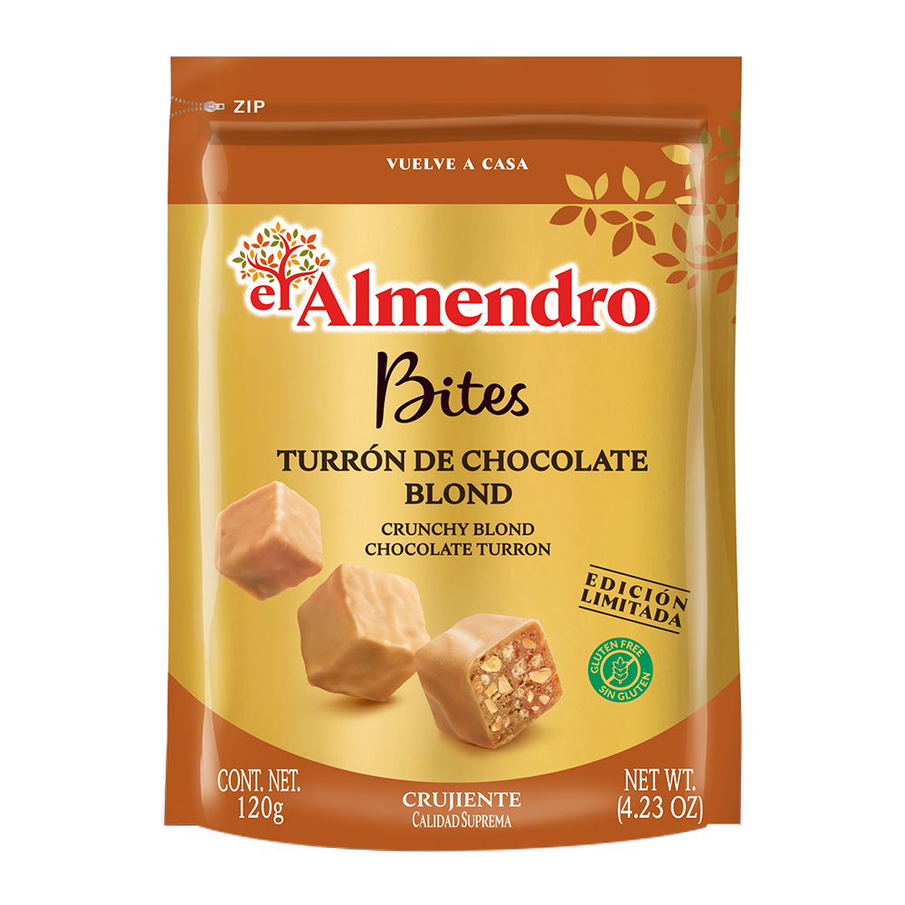 Bites turrón de chocolate blond