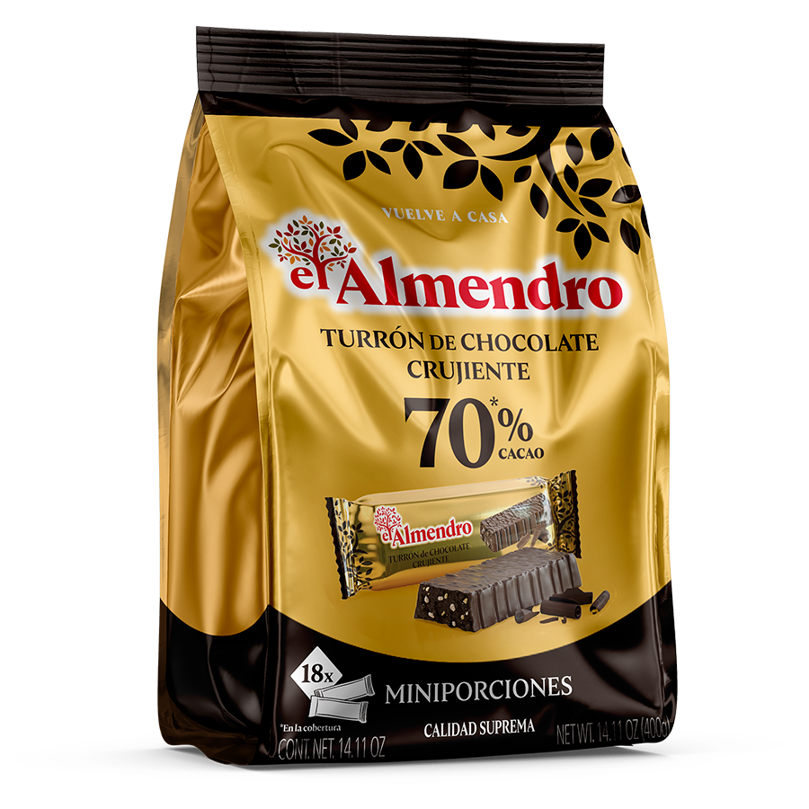 Crunchy 70% Chocolate Turron Portions