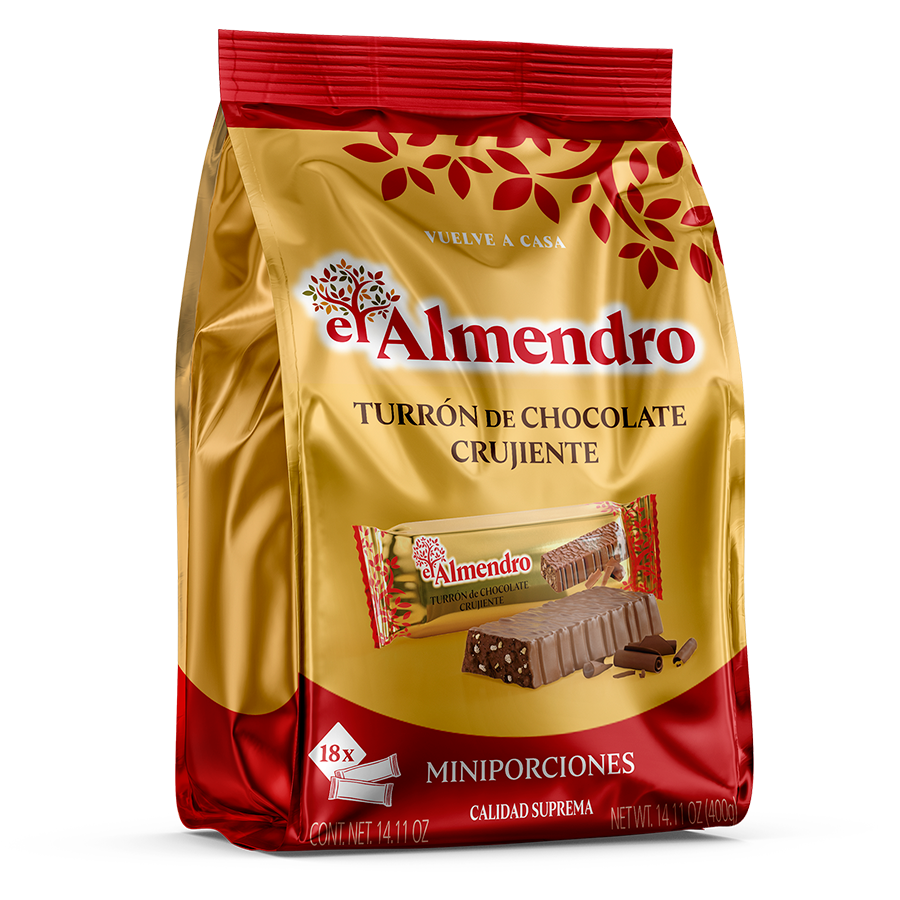 Crunchy Chocolate Turron Portions