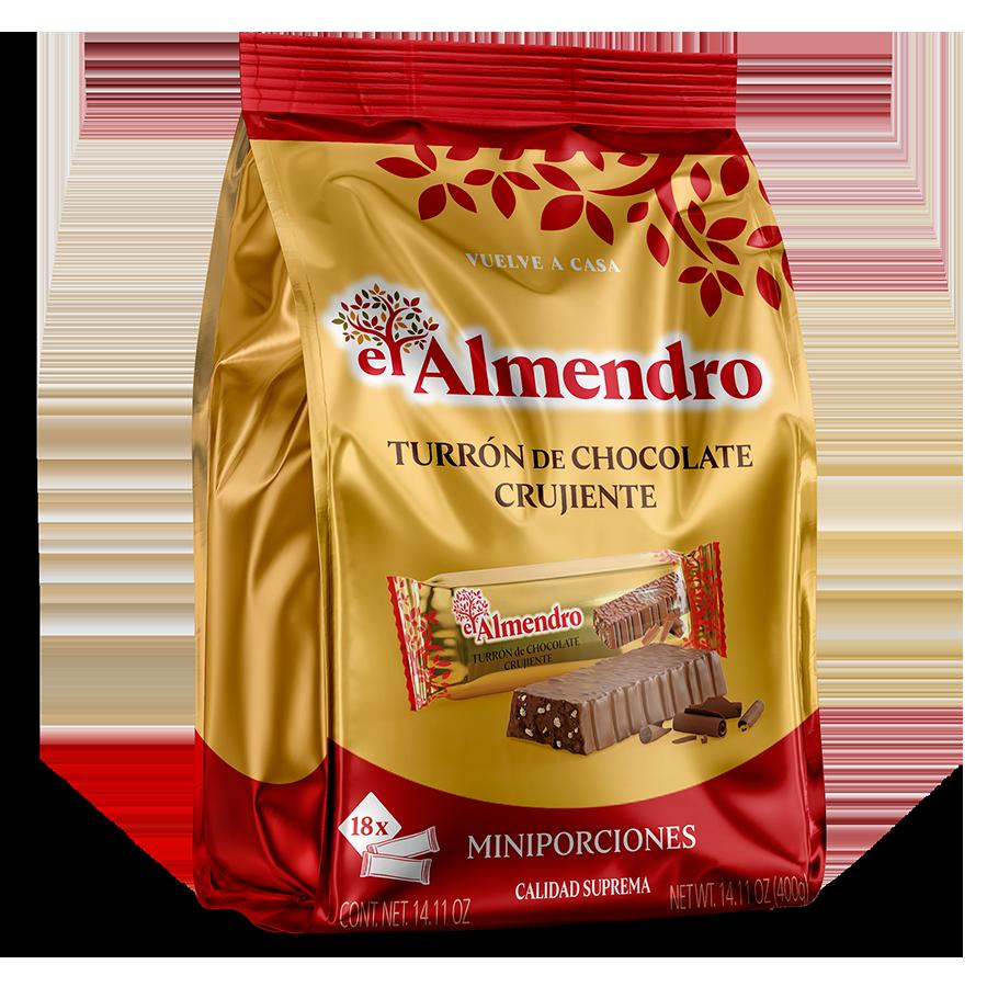 Porciones de Turrón de Chocolate Crujiente